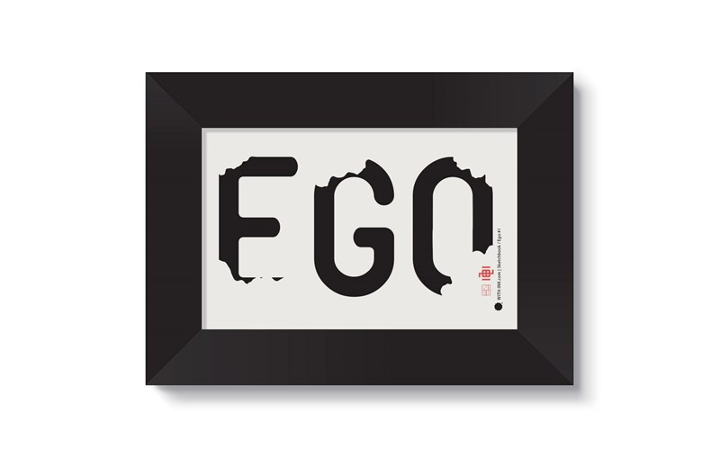 Ego #1 in Black satin frame