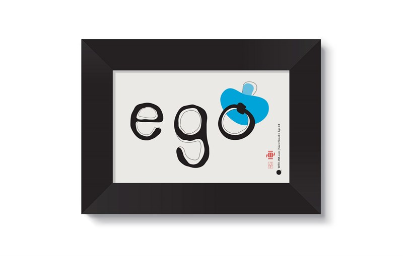 Ego #4 in Black satin frame